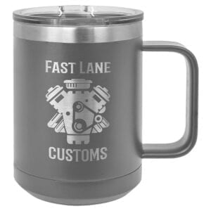 dark gray 15oz coffee mug